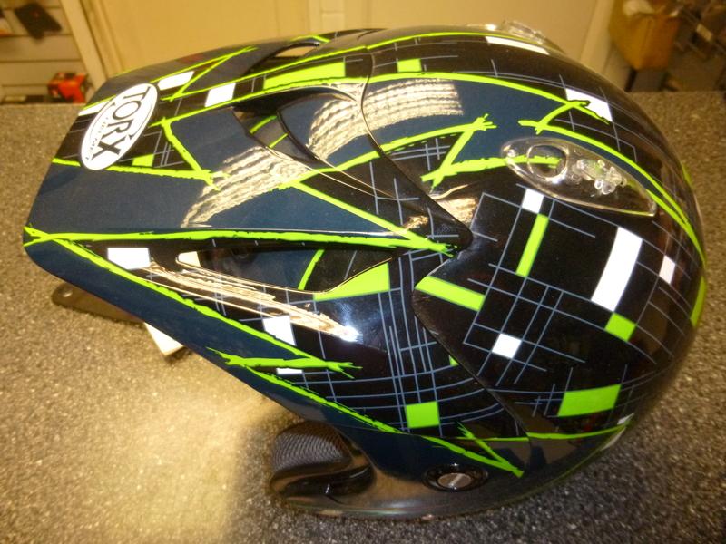 Thumbnail of TORX DOUG Black/Green Trials Helmet